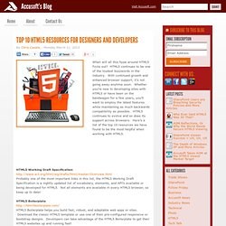 Top 10 HTML5 Resources for Designers and Developers