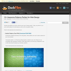 Download for free 10+ Awesome Patterns Perfect for Web Design