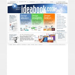 Ideabook.com: Ideas, articles, and resources for graphic designers and marketers by author and designer Chuck Green