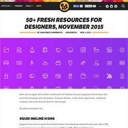 50+ fresh resources for designers, November 2015
