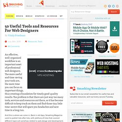 50 Useful Tools and Resources For Web Designers - Smashing Magazine