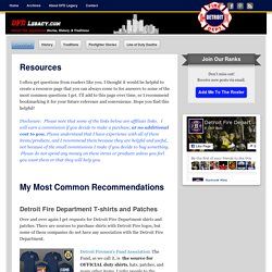 Resources: Where to find Detroit Fire Department items
