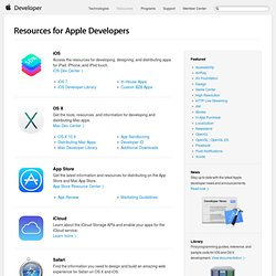 Resources for Apple Developers - Apple Developer