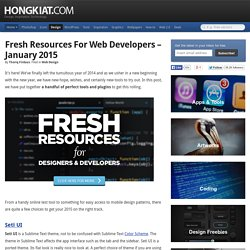 Fresh Resources for Web Developers – January 2015