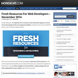 Fresh Resources for Web Developers – November 2014