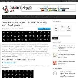 20+ Creative Mobile Icon Resources for Mobile Apps Development