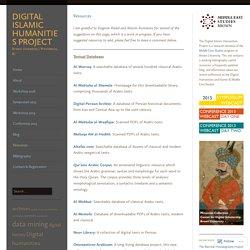 Digital Islamic Humanities Project