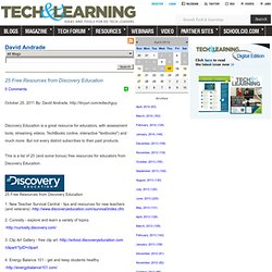 - 25 Free Resources from Discovery Education