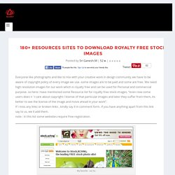 180+ Resources sites to download Royalty Free Stock images