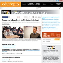 Resources & Downloads for Meditation in Schools