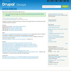 Resources for Drupal with Amazon Web Services | groups.drupal.or