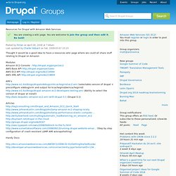 Resources for Drupal with Amazon Web Services