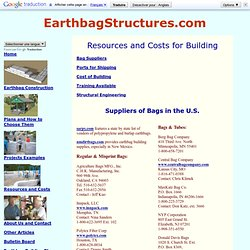 Resources for Earthbag Building