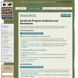 Resources - EarthCraft Virginia