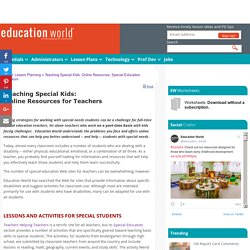 Teaching Special Kids: Online Resources, Special Education Curriculum
