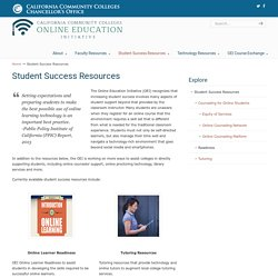 Student Success Resources - Online Education Initiative