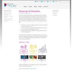Resources for Educators