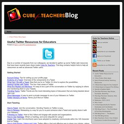 Useful Twitter Resources for Educators