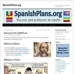 Resources for EL CUERPO unit