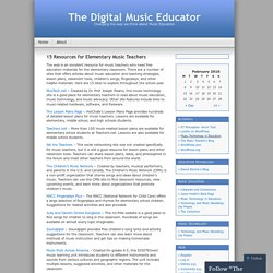 15 Resources for Elementary Music Teachers