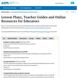 Lesson Plans, Teacher Guides and Online Resources for Educators