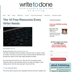 The 10 Free Resources Every Writer Needs