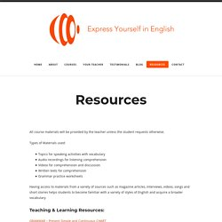 Resources – Express Yourself in English
