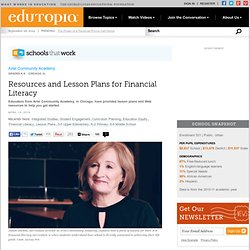 Resources and Lesson Plans for Financial Literacy