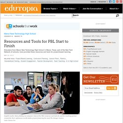 Resources and Tools for PBL Start to Finish