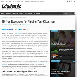 10 Free Resources for Flipping Your Classroom