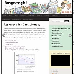 Resources for Data Literacy