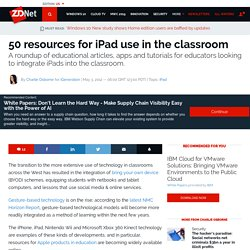 50 resources for iPad use in the classroom