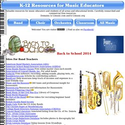 K-12 Resources For Music Educators