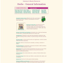 General Herb Information