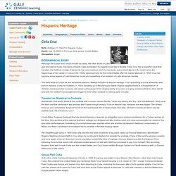 Free Resources - Hispanic Heritage - Biographies - Celia Cruz
