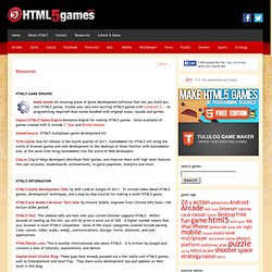 Resources | HTML5games.com
