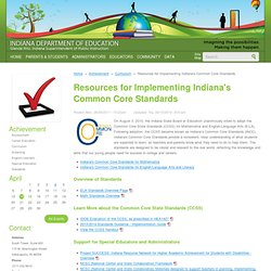 Indiana Common Core State Standards