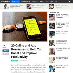 20 Online and App Resources to Help You Boost and Improve Productivity