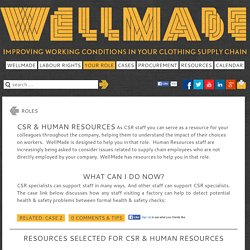 CSR & Human Resources - Wellmade - Improving working conditions in your clothing supply chain
