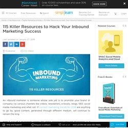 115 Killer Resources to Hack Your Inbound Marketing Success