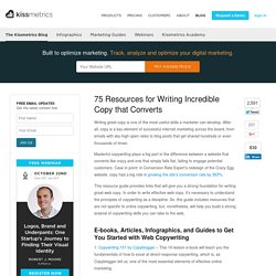 75 Resources for Writing Incredible Copy that Converts