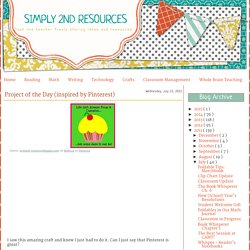Simply 2nd Resources: Project of the Day (inspired by Pinterest)