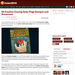 90 Creative Coming Soon Page Designs and Resources