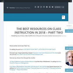 The Best Resources On Class Instruction In 2018 – Part Two