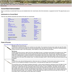 Graham Nasby's Online Resources - Concert Band Instrumentation