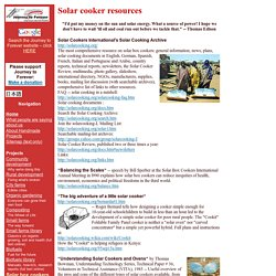 Solar Cooker Resources on the Web: Journey to Forever