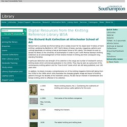 Digital Resources from the Knitting Reference Library WSA :: Library