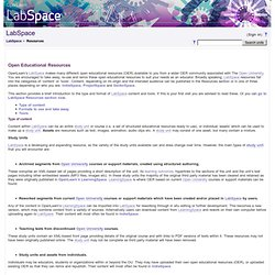 Resources - LearningSpace - The Open University