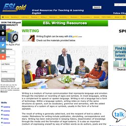 ESL English as a Second Language free materials for teaching and study. The best resources to help you learn English online