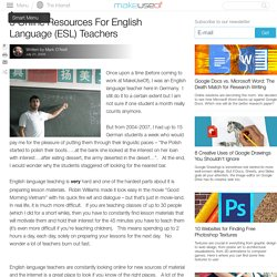 5 Online Resources For English Language (ESL) Teachers